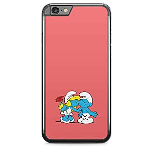 Loud Universe Smurf Children iPhone 6 Plus Case Smurfs Cute Kiss iPhone 6 Plus Cover with Transparent Edges