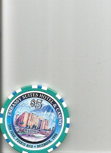 5 Embassy Suites San Juan Puerto Rico 1996 Casino Chip Rare