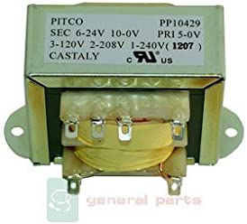 PERFECT FRY PP10210 TRANSFORMER 40VA 120/208/240V TO 24V