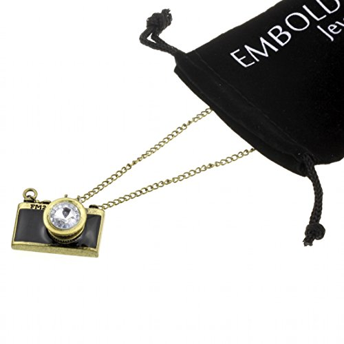 Fashion Bronze Black Camera Charms Necklace - Perfect Jewelry Accessories Women Girls and Teen Girls