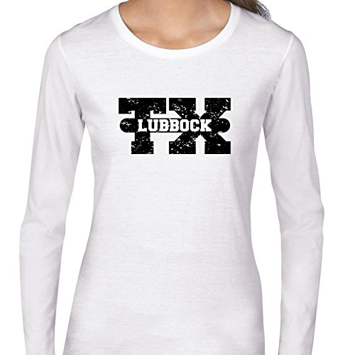 Lubbock, Texas TX Classic City State Sign Women's Long Sleeve -