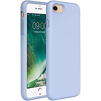 Amazon Com Apple Silicone Case For Iphone 7 Azure Cell Phones