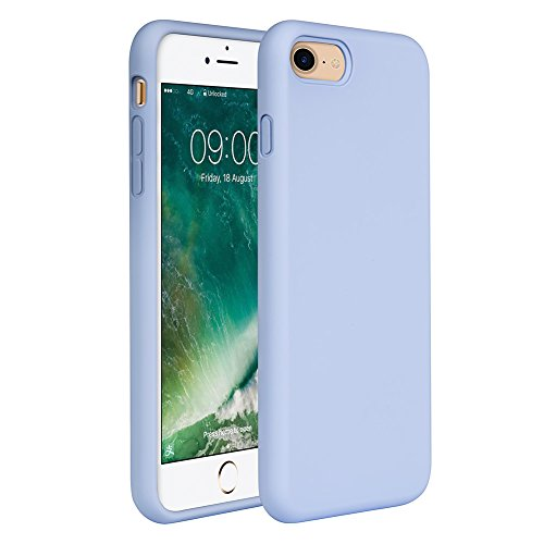 "iPhone 8 Case Liquid Silicone, iPhone 7 Silicone Case Miracase Gel Rubber Full Body Protection Shockproof Cover Case Drop Protection for Apple iPhone 7/iPhone 8(4.7"") (Clove Purple)"