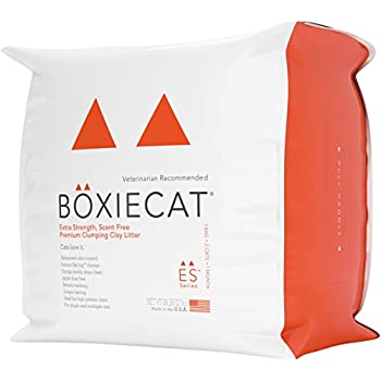 Boxiecat Extra Strength Premium Clumping Clay Cat Litter, 28 lb