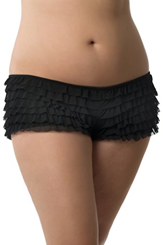 Buy black ruffle panties