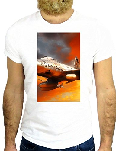 T SHIRT Z2494 PLANE AIRPLANE COOL ROCK WAR NICE HIPSTER VINTAGE COOL US UK GGG24 BIANCA - WHITE M