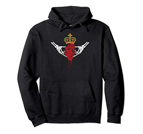 - Gothic Horror inspired Claddagh pullover Hoodie