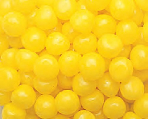 Yellow Lemon Fruit Sours Chewy Candy Balls 1LB Bag - Sours Balls Fruit Candy