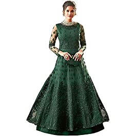 Prime Empire Women's Net with soft silk Semi stitched Anarkali Gown