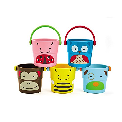 Skip Hop Zoo Stack and Pour Buckets, Rinse Cups, Multi ()