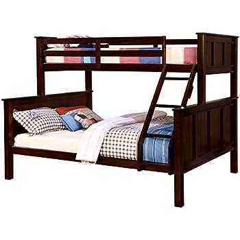 Amazon Com Furniture Of America Denny Twinxl Queen Bunk