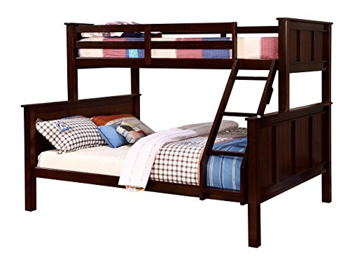 HOMES: Inside + Out ioHOMES Fidel Contemporary Bunk Bed, Twin/Queen, Dark Walnut
