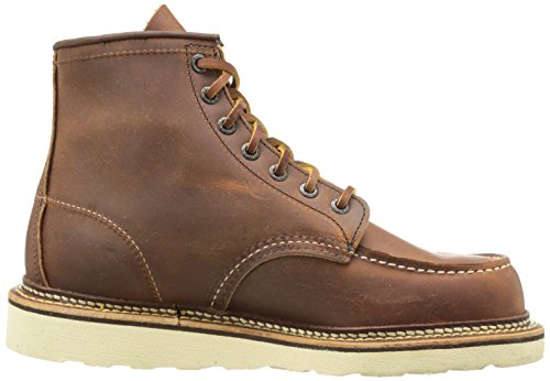 D amp; Men's Inch US Heritage Copper Boot Moc Classic 6 Toe 7 Tough Wing 1907 Red Rough nqZwx4n7