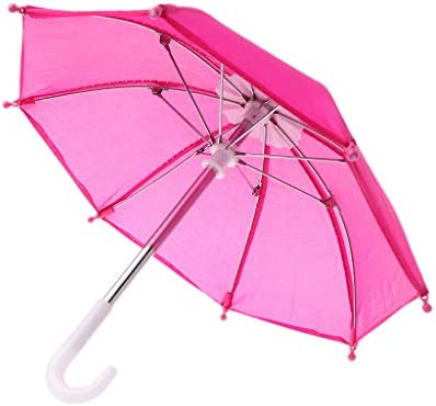 GUSENG カラフルなミニ傘雨具 ブライスアメリカン人形用 18インチ人形アクセサリー 赤ちゃんの写真撮影小道具 子供のおもちゃ 25x25x21cm GUSENG