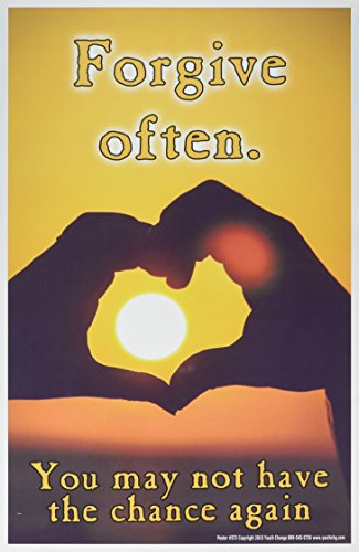 Youth Change Workshops Heart and Sun Forgiveness is Inspirational, Motivational (Poster #573)
