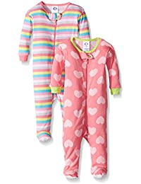 Baby Girls 2 Pack Footed Sleeper