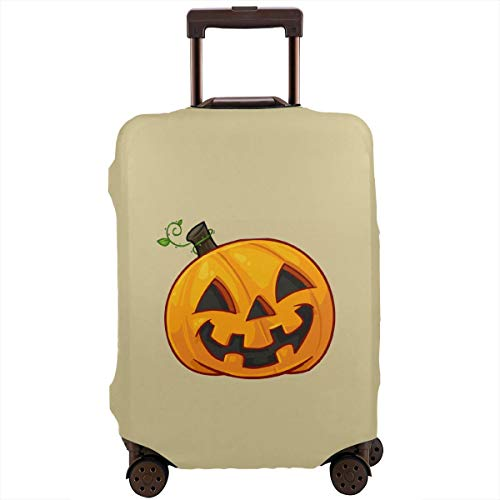 MKJIH Pumpkin Face Halloween Travel Suitcase Protector Zipper Suitcase Cover Baggage Suitcase Protector Cover Fit 18-32 Inch]()
