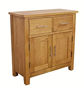 Nebraska Oak - Mini Sideboard / Small 2 Door 2 Drawer Storage ...