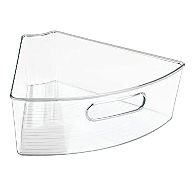 InterDesign Lazy Susan Kitchen Cabinet Pantry Organizer Binz 1/6, Clear