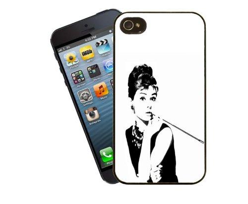 Cas de téléphone beauté Audrey Hepburn film star pour iPhone 5 / 5 s - housse d'idées cadeaux Eclipse