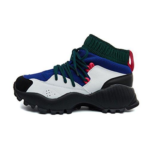 Zerlar Womens Shoes Casual Bule Walking Sport Travel Breathable Laces Mesh Hiking ZPwrgqZd