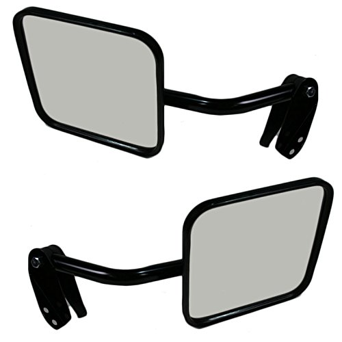 Black Metal Manual Mirrors Pair Set of 2 LH & RH for Jeep Scrambler CJ DJ Series