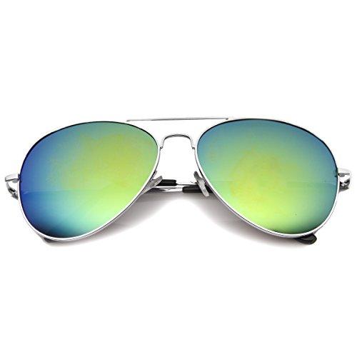 zeroUV - Premium Full Mirrored Aviator Sunglasses w/ Flash