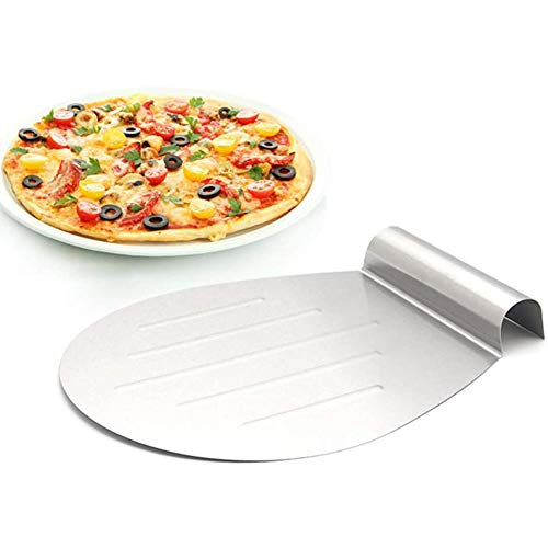 Cake Server, ronde pizza peel Bakers Paddle – RVS taartschep pizza paddle Peel Anti-cake bewegende plaat bakken…