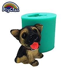 Dog shape silicone handmade plaster animal candle
