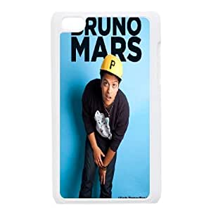 Qxhu Bruno Mars patterns Hard Plastic Cover Case for Ipod Touch4