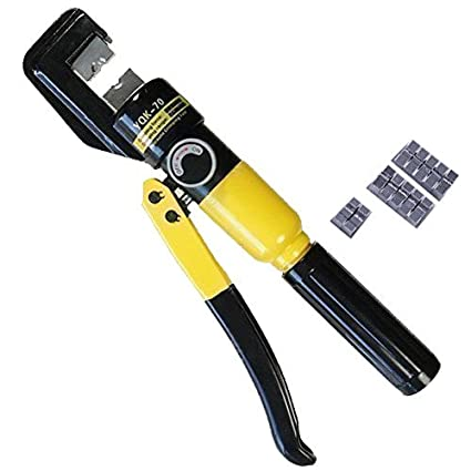 Manual Hydraulic Electric Cable Wire Terminal Crimping Tool Die Set 70mm 416371