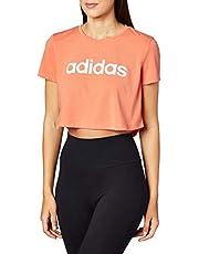 تي شيرت مطبوع عليه شعار CROPPED BOXY من Adidas W D2M