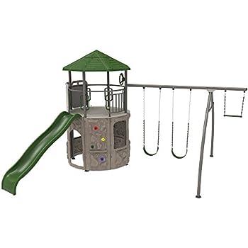 Amazon Com Lifetime Monkey Bar Adventure Swing Set