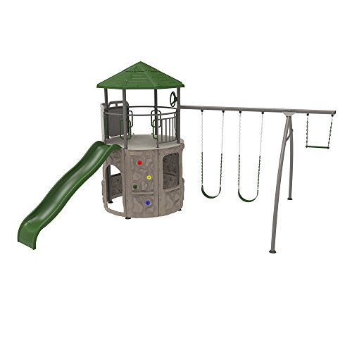 Lifetime 290633 Adventure Tower Playset, Earthtone