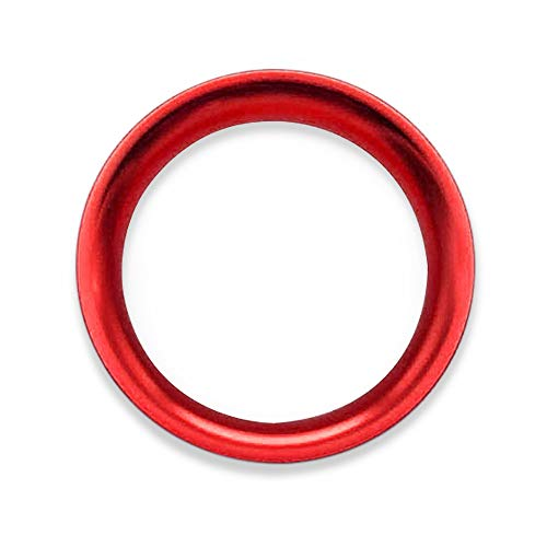 Ceyes Red Start Stop Engine Button Ring Push Button Ignition Switch Trim Ring Push Start Stop Button Decoration Ring Sticker for Mazda 2 3 Axela BM BN 6 Atenza CX-3 CX-4 CX-5 CX-9 MX-5 Miata