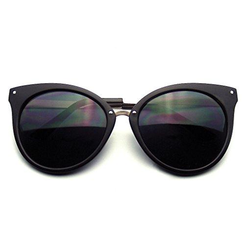 Corne Eyewear Emblem Métalliques Rétro De Indie De Noir Cat Eye Lunettes Pointes Mat Poteaux Soleil Bordés qtqOdanrHw