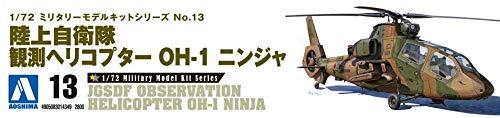 Kit Montaggio Militare JGSDF ELICOTTERO DA OSSERVAZIONE OH-I NINJA Scala 1//72 AOSHIMA