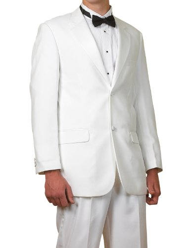 New Mens White 2 Button Tuxedo Suit - Includes Jacket and Pants