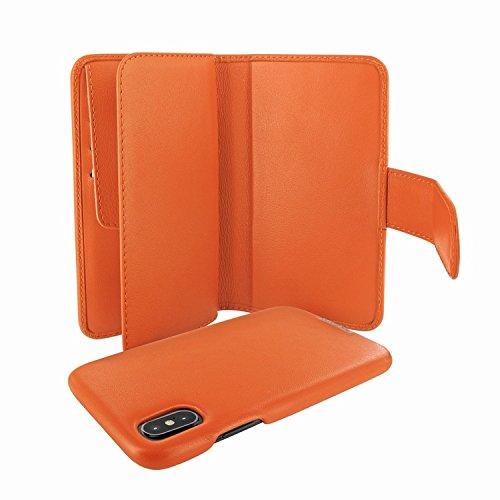 Piel Frama 793 Orange WalletMagnum Leather Case for Apple iPhone X by Piel Frama (Image #4)