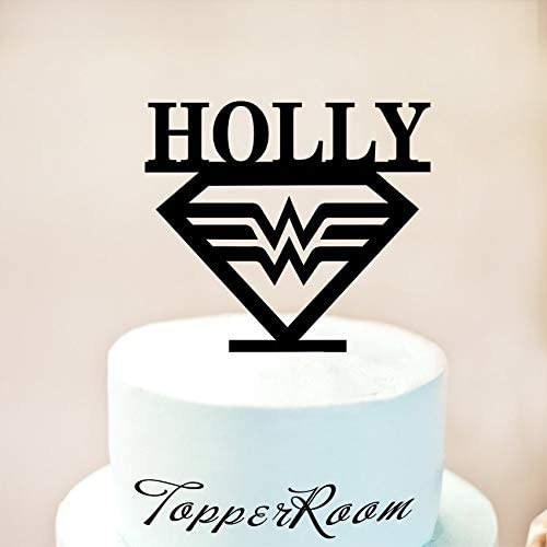 Phenomenal Custom Wonder Woman Cake Topper Wonder Woman Birthday Cake Topper Birthday Cards Printable Benkemecafe Filternl