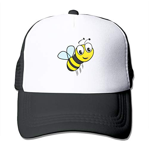 HIPGCC Little Bumble Bee Toddler Womens&Mens Unisex Comfortable Trucker Cap Adjustable Strapback Black (Bee Bumble Cap Toddler)