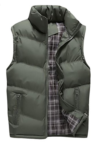 Classic Down Vest (Pandapang Men's Classic Outdoor Full Zip Sleeveless Down Puffer Vest Army Green Large)
