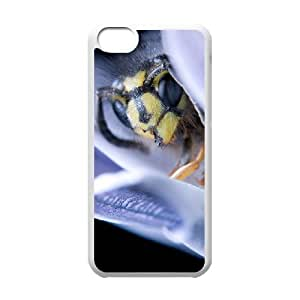 Iphone 5C 2D Customized Phone Back Case with Bee Image