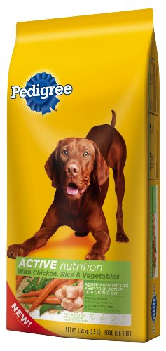 Pedigree Pedigree Active with Chicken, Rice and Vegetables Dry dog Food, 3.5-Pound, My Pet Supplies