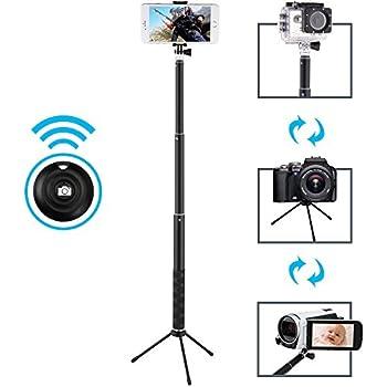 Selfie Stick, MAONO Bluetooth Remote and Tripod, Portable Rainproof Monopod for GoPro, iPhone 7/7 Plus/6 Plus/6S Plus Samsung Galaxy Series, DSLR