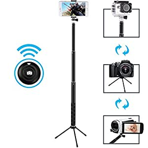 selfie stick maono bluetooth remote and tripod portable rainproof monopod for. Black Bedroom Furniture Sets. Home Design Ideas
