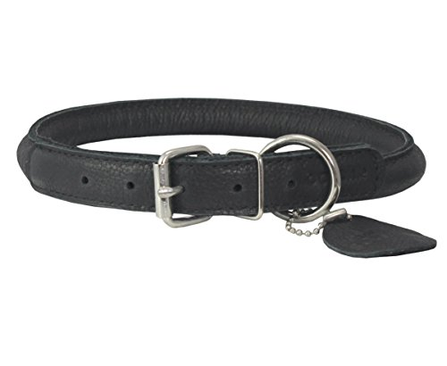 genuine-leather-rolled-dog-collar-175-21-neck-size-chow-chow-collie-labrador
