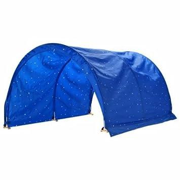 Amazon Com Ikea Kura Children S Canopy For Bed Blue Home Kitchen