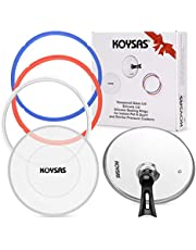 KOYSAS Tempered Glass and Silicone Lids for Instant Pot 6 Quart Plus Pack of 3 Silicone Sealing Rings for Instant Pot 6 qt and Similar Crock Pot Accessories - Gift Quality Packaging