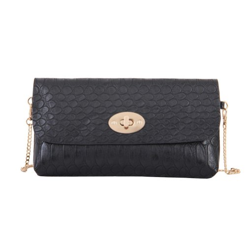 Mellow World Lola Clutch Handbag (Black)